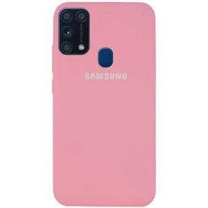 Оригинальный чехол Silicone Cover 360 с микрофиброй для Samsung Galaxy M31 – Розовый / Pink
