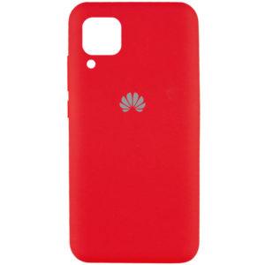 Оригинальный чехол Silicone Cover 360 с микрофиброй для Huawei P40 lite – Красный / Red
