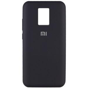 Оригинальный чехол Silicone Cover 360 с микрофиброй для Xiaomi Redmi Note 9s / Note 9 Pro / Note 9 Pro Max – Черный / Black
