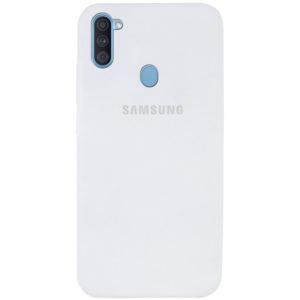 Оригинальный чехол Silicone Cover 360 с микрофиброй для Samsung Galaxy A11 / M11 – Белый / White