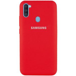 Оригинальный чехол Silicone Cover 360 с микрофиброй для Samsung Galaxy A11 / M11 – Красный / Red