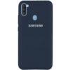 Оригинальный чехол Silicone Cover 360 с микрофиброй для Samsung Galaxy A11 / M11 – Синий / Midnight Blue