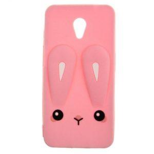 Силиконовый чехол 3D TOTO Silicone Cartoon Network Rabbit для Meizu M6s – Pink