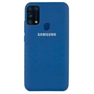 Оригинальный чехол Silicone Cover 360 с микрофиброй для Samsung Galaxy M31 – Синий / Blue