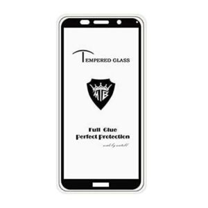 Защитное стекло 3D (5D) Tempered Glass Full Glue Cover на весь экран для Huawei Y5 / Y5 Prime 2018 – Black