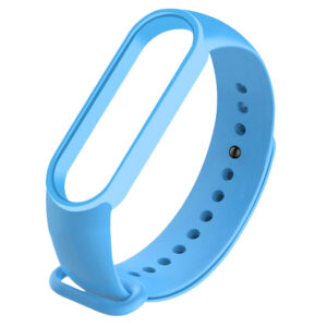 Силиконовый ремешок для Xiaomi Mi Band 5 – Голубой / Light Blue