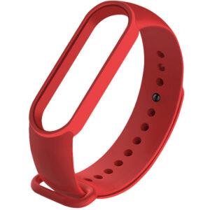 Силиконовый ремешок для Xiaomi Mi Band 5 – Красный / Dark Red