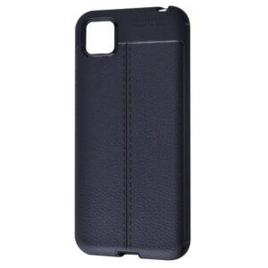 TPU чехол фактурный (с имитацией кожи) для Huawei Y5P / Honor 9S – Черный