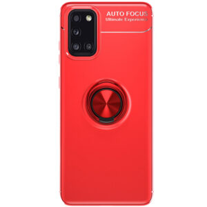 Cиликоновый чехол Deen ColorRing c креплением под магнитный держатель для Samsung Galaxy A31 – Красный