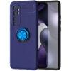 Cиликоновый чехол Deen ColorRing c креплением под магнитный держатель для Xiaomi Mi Note 10 Lite – Синий