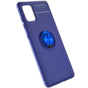 Cиликоновый чехол Deen ColorRing c креплением под магнитный держатель для Samsung Galaxy A41 – Синий