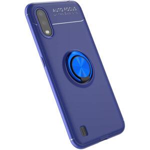 Cиликоновый чехол Deen ColorRing c креплением под магнитный держатель для Samsung Galaxy A01 – Синий