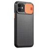 Чехол Camshield Black TPU со шторкой защищающей камеру для Iphone 11 – Черный / Оранжевый