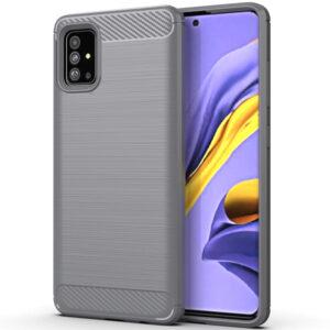 Cиликоновый TPU чехол Slim Series для Samsung Galaxy A71 – Серый