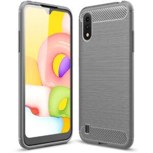 Cиликоновый TPU чехол Slim Series для Samsung Galaxy A01 – Серый