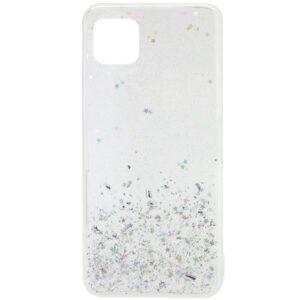Cиликоновый чехол с блестками Shine Glitter для Huawei Y5P – Прозрачный