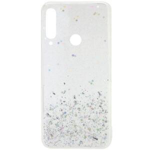 Cиликоновый чехол с блестками Shine Glitter для Huawei Y6P – Прозрачный