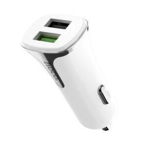 Автомобильное зарядное устройство HOCO Z31 Quick Charge 3.0 (2USB / 3.4A) – White