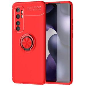 Cиликоновый чехол Deen ColorRing c креплением под магнитный держатель для Xiaomi Mi Note 10 Lite – Красный