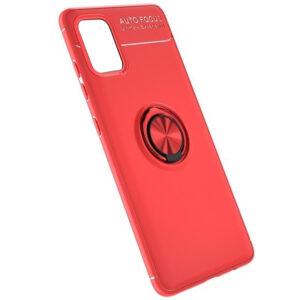 Cиликоновый чехол Deen ColorRing c креплением под магнитный держатель для Samsung Galaxy A41 – Красный