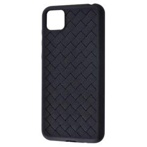Силиконовый TPU чехол SKYQI плетеный под кожу для Huawei Y5P / Honor 9S – Black