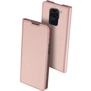 Чехол-книжка Dux Ducis с карманом для Xiaomi Redmi Note 9 / Redmi 10X – Rose Gold