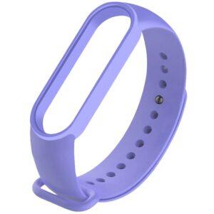 Силиконовый ремешок для Xiaomi Mi Band 5 – Сиреневый / Elegant Purple
