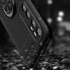 Cиликоновый чехол Deen ColorRing c креплением под магнитный держатель для Xiaomi Mi Note 10 Lite – Черный 59063