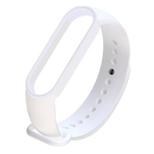 Силиконовый ремешок для Xiaomi Mi Band 5 – Белый / White