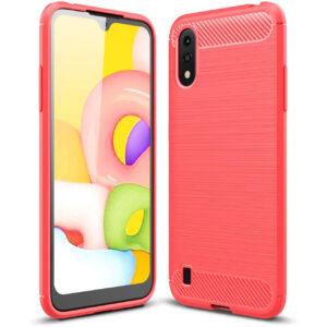 Cиликоновый TPU чехол Slim Series для Samsung Galaxy A01 – Красный