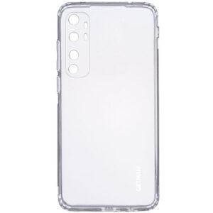 Прозрачный силиконовый TPU чехол GETMAN для Xiaomi Mi Note 10 Lite