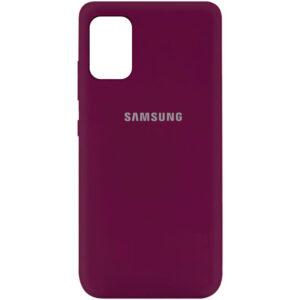 Оригинальный чехол Silicone Cover 360 (A) с микрофиброй для Samsung Galaxy A41 – Бордовый / Marsala