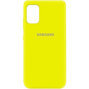 Оригинальный чехол Silicone Cover 360 (A) с микрофиброй для Samsung Galaxy A41 – Желтый / Flash