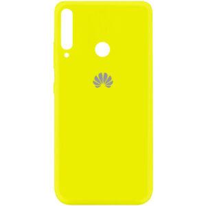 Оригинальный чехол Silicone Cover 360 (A) с микрофиброй для Huawei P40 Lite E / Y7P (2020) – Желтый / Flash
