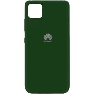 Оригинальный чехол Silicone Cover 360 (A) с микрофиброй для Huawei Y5P – Зеленый / Dark green