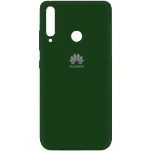 Оригинальный чехол Silicone Cover 360 (A) с микрофиброй для Huawei P40 Lite E / Y7P (2020) – Зеленый / Dark green