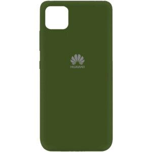 Оригинальный чехол Silicone Cover 360 (A) с микрофиброй для Huawei Y5P – Зеленый / Forest green