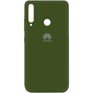 Оригинальный чехол Silicone Cover 360 (A) с микрофиброй для Huawei P40 Lite E / Y7P (2020) – Зеленый / Forest green