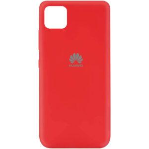 Оригинальный чехол Silicone Cover 360 (A) с микрофиброй для Huawei Y5P – Красный / Red