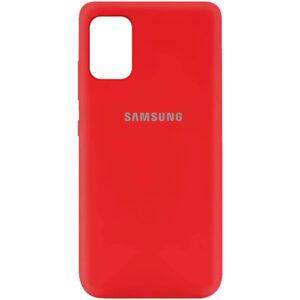 Оригинальный чехол Silicone Cover 360 (A) с микрофиброй для Samsung Galaxy A41 – Красный / Red