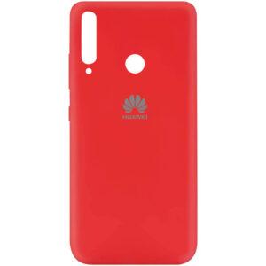 Оригинальный чехол Silicone Cover 360 (A) с микрофиброй для Huawei P40 Lite E / Y7P (2020) – Красный / Red