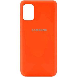 Оригинальный чехол Silicone Cover 360 (A) с микрофиброй для Samsung Galaxy A31 – Оранжевый / Neon Orange