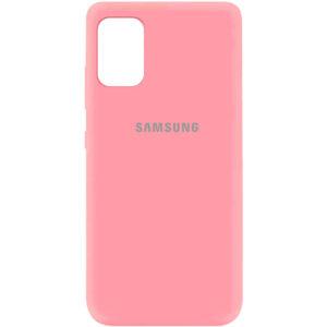 Оригинальный чехол Silicone Cover 360 (A) с микрофиброй для Samsung Galaxy A41 – Розовый / Pink