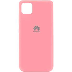 Оригинальный чехол Silicone Cover 360 (A) с микрофиброй для Huawei Y5P – Розовый / Pink