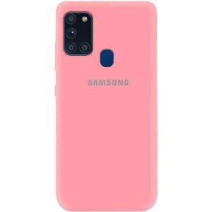 Оригинальный чехол Silicone Cover 360 (A) с микрофиброй для Samsung Galaxy A21s – Розовый / Pink