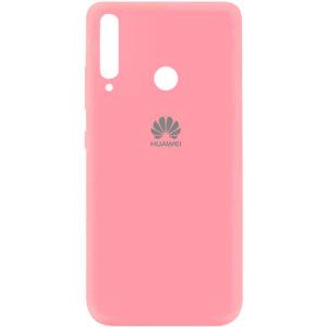 Оригинальный чехол Silicone Cover 360 (A) с микрофиброй для Huawei P40 Lite E / Y7P (2020) – Розовый / Pink
