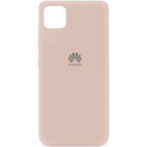 Оригинальный чехол Silicone Cover 360 (A) с микрофиброй для Huawei Y5P – Розовый / Pink Sand