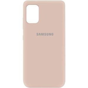 Оригинальный чехол Silicone Cover 360 (A) с микрофиброй для Samsung Galaxy A41 – Розовый / Pink Sand