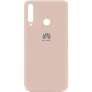 Оригинальный чехол Silicone Cover 360 (A) с микрофиброй для Huawei P40 Lite E / Y7P (2020) – Розовый / Pink Sand