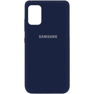 Оригинальный чехол Silicone Cover 360 (A) с микрофиброй для Samsung Galaxy A41 – Синий / Midnight blue